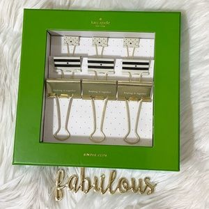 Kate Spade Keeping it Together binder clips set